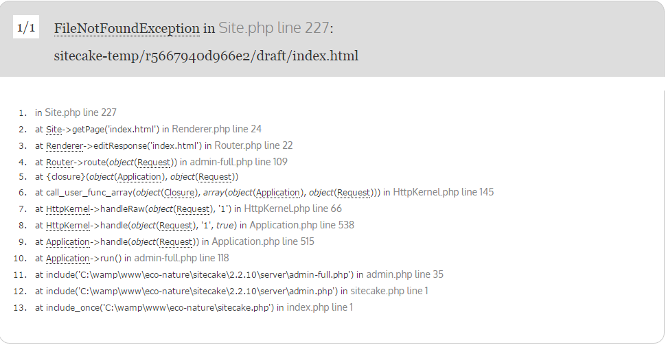 Error in site php after installation - installation - Sitecake Forum